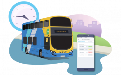 Go-Ahead Ireland creates Late Running Requests with uTrack